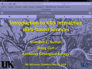 Introduction to KGS Interactive Web-based Services