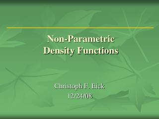 Non-Parametric Density Functions