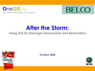 After the Storm: Using GIS for Damage Assessment and Restoration