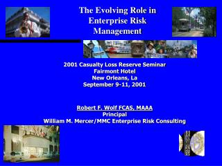 2001 Casualty Loss Reserve Seminar  Fairmont Hotel New Orleans, La September 9-11, 2001    Robert F. Wolf FCAS, MAAA Pri