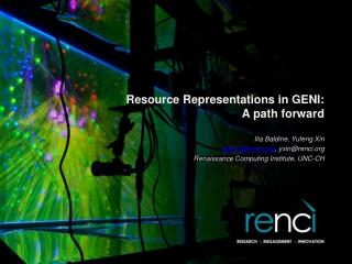 Resource Representations in GENI: A path forward