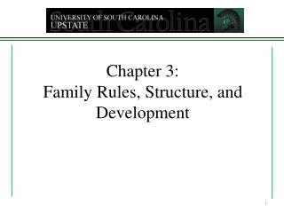 Chapter 3: Family Rules, Structure, and Development