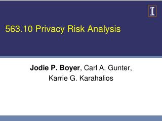 563.10 Privacy Risk Analysis