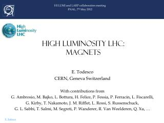 HIGH LUMINOSITY LHC: MAGNETS