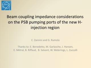 Beam coupling impedance considerations on the PSB pumping ports of the new H- injection region