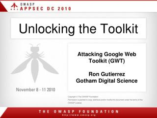 Unlocking the Toolkit