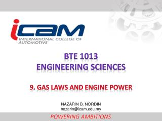 BTE 1013 ENGINEERING  SCIENCEs