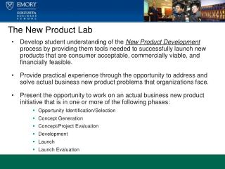 The New Product Lab