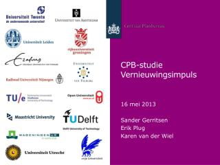CPB-studie Vernieuwingsimpuls