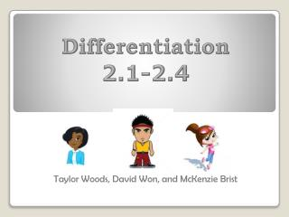 Differentiation 2.1-2.4