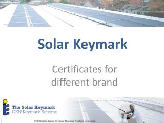 Solar Keymark