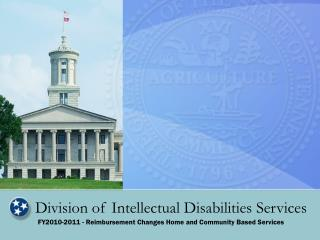 Division of Intellectual Disabilities Services