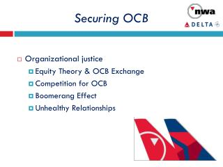 Securing OCB