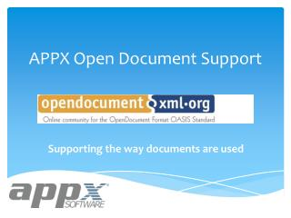 APPX Open Document Support