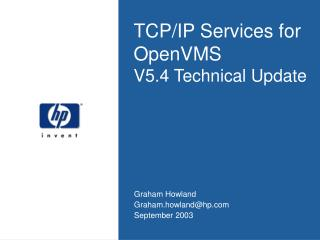 TCP/IP Services for OpenVMS V5.4 Technical Update