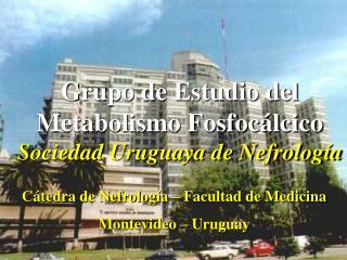 Grupo de Estudio del Metabolismo Fosfocálcico Sociedad Uruguaya de Nefrología