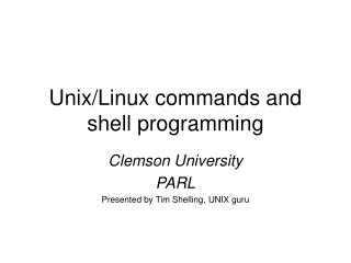 Unix/Linux commands and shell programming