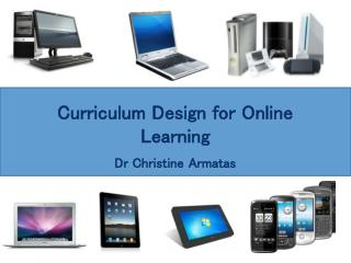 Curriculum Design for Online Learning