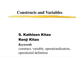 Constructs and Variables