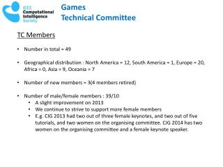 Games Technical Committee
