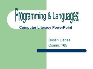 Computer Literacy PowerPoint