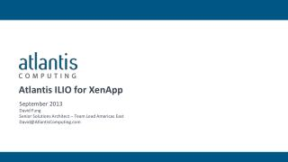 Atlantis ILIO for  XenApp