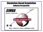 Simulation-Based Acquisition Industry Perspective