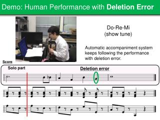 Demo: Human Performance with  Deletion Error