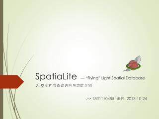"SpatiaLite — ""Flying"" Light Spatial Database"
