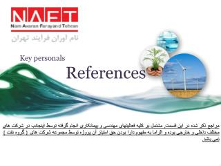 Key personals  References