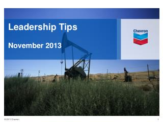 Leadership Tips  November 2013