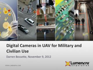 Digital Cameras  in UAV for  Military and  Civilian Use