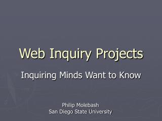 Web Inquiry Projects