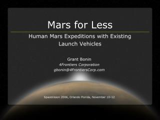 Mars for Less