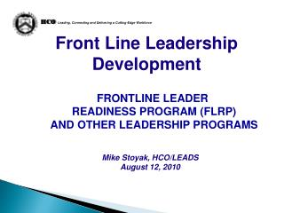 Front Line Leadership Development