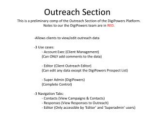 Outreach Section