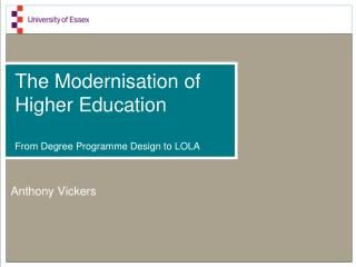 The Modernisation of Higher Education From  Degree Programme Design to LOLA