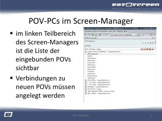 POV-PCs im Screen-Manager