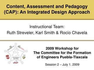 2009 Workshop for The Committee for the Formation of Engineers Puebla-Tlaxcala