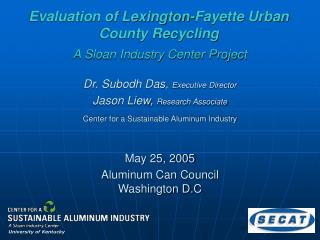 Evaluation of Lexington-Fayette Urban County Recycling