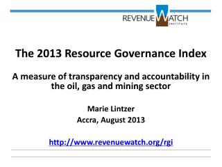 The 2013 Resource Governance Index