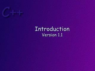 Introduction Version 1.1