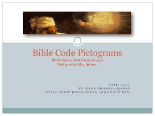Bible Code Pictograms  Bible Codes that form images that predict the future.
