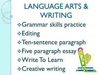 LANGUAGE ARTS & WRITING