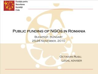 Public funding of NGOs in Romania