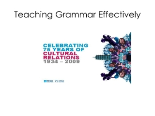 How to teach grammar  from examples