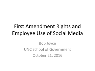 First Amendment Rights and Employee Use of Social Media