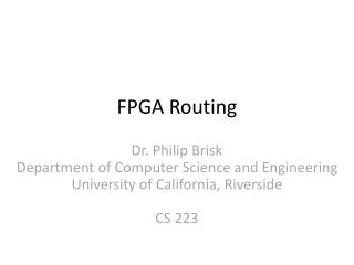 FPGA Routing
