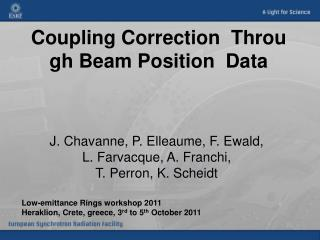Coupling Correction  Through Beam Position  Data