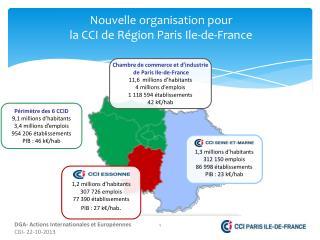 Nouvelle  organisation pour  la CCI de Région Paris  Ile-de-France